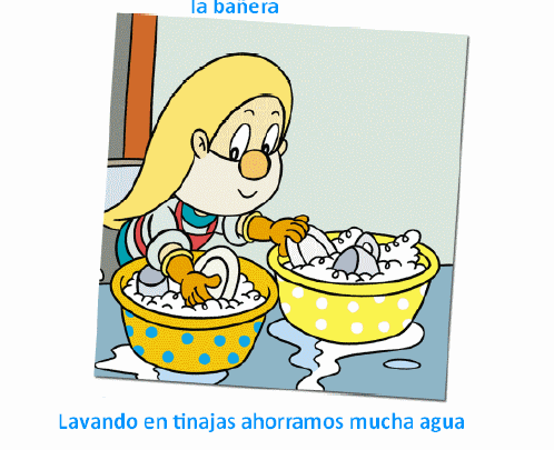 Dibujo de niños ahorrando agua - Imagui